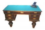 письменный стол, дерево, сукно, середина ХХ в.