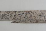 Пластина с резным растительным орнаментом кость XIII-XIVвв